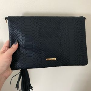Gigi New York Fold Over Clutch Navy